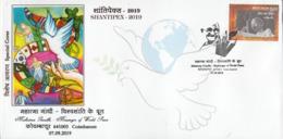 India  2019  Mahatma Gandhi  Messenger Of World Peace  Special Cover  # 23405  D   D Inde  Indien - Mahatma Gandhi