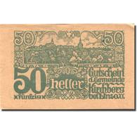 Billet, Autriche, Kirchberg Bei Linz, 50 Heller, Village, 1920 SPL Mehl:FS 443c - Autriche