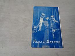 Carte ( 409 )  Thème  :  Musique  Muziek  -  Fallo & Baratto - Musique Et Musiciens