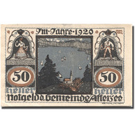 Billet, Autriche, Attersee, 50 Heller, Lac, SPL, Mehl:FS 60a - Autriche