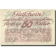Billet, Autriche, Steiermark, 50 Heller, Blason 1920-02-29, SPL Mehl:FS 1014b - Autriche
