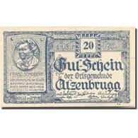 Billet, Autriche, Atzenbrugg, 20Heller Personnage 1, 1920 SPL Bleu Mehl:FS 63IaF - Austria