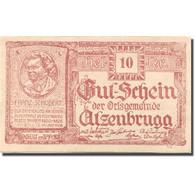 Billet, Autriche, Atzenbrugg, 10 Heller, Personnage 1920 SPL Rouge Mehl:FS 63IaA - Austria