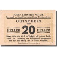 Billet, Autriche, Herzogenburg, 20 Heller, Valeur Faciale, 1920 SUP Mehl:FS 369 - Autriche