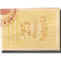 Billet, Allemagne, Gronau, 25 Pfennig, Valeur Faciale, 1917-1920 SUP Mehl:G47-3c - Allemagne