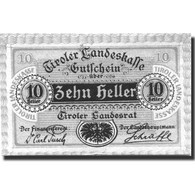 Billet, Autriche, Innsbruck, 10 Heller, Blason, SPL+, Mehl:FS 1073II - Autriche