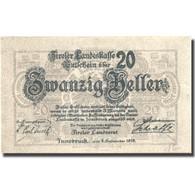 Billet, Autriche, Innsbruck, 20 Heller, Blason 1919-10-01, SPL Mehl:FS 1073I - Austria