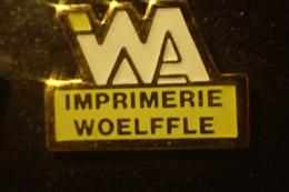 PIN'S Imprimerie Woelfflé à Prouvy - Cities