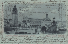 AK - Polen - Krakau - Mondscheinkarte - Hauptring - 1901 - Stempel Bielitz !! - Polen