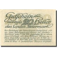 Billet, Autriche, Steiermark, 20 Heller, Valeur Faciale, 1920 SPL+ Mehl:FS 1014a - Autriche