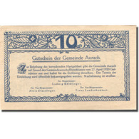 Billet, Autriche, Aurach, 10 Heller, Village 2, 1920 SPL Bleu Mehl:FS 68a - Autriche