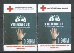 BH 2019-ZZ01 RED CROSS TBC, BOSNA AND HERZEGOVINA, 1 X 2v, MNH - Bosnië En Herzegovina