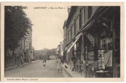 CARTERET - Carte Animée Sur La RUE De PARIS Avec Commerces - Carteret