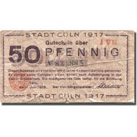 Billet, Allemagne, Cöln, 50 Pfennig, Monument, 1917, 1917-03-29, B, Mehl:K30.3c - Allemagne