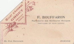 Petite Carte OEILLET D'AUTOMNE, GODET Neuilly - F. BOUFFARON Parfumerie à ROANNE  - 002 - Other