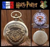 Montre Gousset NEUVE ! ( Pocket Watch ) - Harry Potter Poudlard Hogwarts ( B2 ) - Montres Gousset