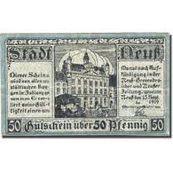 Billet, Allemagne, Neuk, 50 Pfennig, Château, 1919, TTB Mehl:M12.2c - Andere