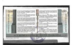 Frankreich 330 / Deklaration (Paar) 1989 O - Oblitérés