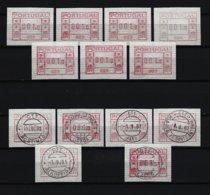 PORTUGAL Lot ATM Postfrisch Und Gestempelt - Vignettes D'affranchissement (ATM/Frama)