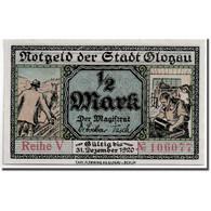 Billet, Allemagne, Glogau Stadt, 1/2 Mark, Monument, 1920, 1921-12-31, SPL - Andere