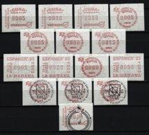KUBA Lot ATM Postfrisch Und Gestempelt - Vignettes D'affranchissement (Frama)