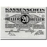 Billet, Autriche, Wien, 20 Heller, Graphique, 1919, 1919-10-04, SPL - Autriche
