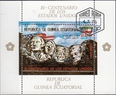 Guinea Equatoriale 1975 Bf. 179A Bicentenario Rushmore Dakota Lincoln Washington Ecuatorial Perf. CTO - George Washington