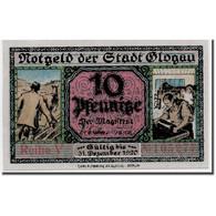 Billet, Allemagne, Glogau Stadt, 10 Pfennig, Château, 1920, 1921-12-31, SPL - Andere