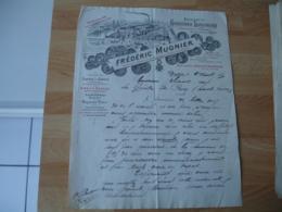 Absinthe  Cassis1895 Frederic Mugnier Dijon Facture Illustree - France