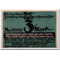 Billet, Allemagne, Hannover, 3 Mark, Portrait, 1922, 1922-02-01, SPL - Andere