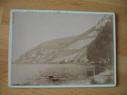1898 Nantua  Bords Du Lac   Photo Ancienne - Foto's