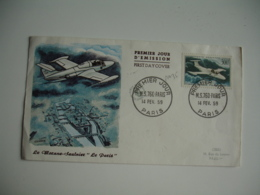 Morane Saulnier Le Paris Timbre 300 F Fdc Enveloppe 1 Er Jour - FDC