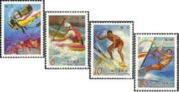 Taiwan 1999 S#3260-3263 Outdoor Activities MNH Marine Life Fish Coral Diving Rafting Surfing Windsurfing - 1945-... Republik China