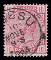 "COB N° 38 - Oblitération S.C. ""BOUSSU"" - 1869-1883 Léopold II"