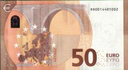 ! 50 Euro R029A1, RD0014401002, Currency, Banknote, Billet Mario Draghi, EZB, Europäische Zentralbank - 50 Euro