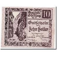 Billet, Autriche, Göstling N.Ö. Gemeinde, 10 Heller, Paysage, SPL, Mehl:243a - Austria