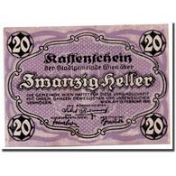 Billet, Autriche, Vienne, 20 Heller, Graphique, 1920, 1920-06-30, SPL - Autriche