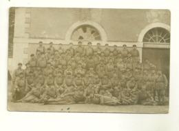 CARTE-PHOTO 501ème REGIMENT DE CHARS DE COMBAT SOLDATS CASERNE MILITAIRES MILITARIA ECURIE CHEVAUX A SITUER - Reggimenti