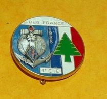 1° Régiment D'Infanterie De Marine, 1° Cie, FINUL Liban 1985, FABRICANT FRAISSE PARIS ,HOMOLOGATION SANS, ETAT VOIR PHOT - Armée De Terre