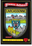 Carte Postale Blason Adhésif Carcassonne - Carcassonne
