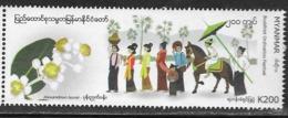 MYANMAR, 2019, MNH, FESTIVALS,BUDDHIST ORDINATION FESTIVAL, HORSES,  1v - Other