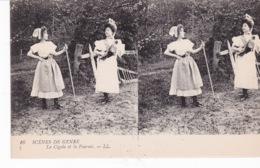 LA CIGALE ET LA FOURMI(CARTE STEREO) FEMME - Stereoscopische Kaarten