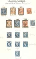 15 Timbres ( Napoléon / Oblitération Alsace-Loraine ) - 1853-1860 Napoléon III
