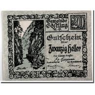 Billet, Autriche, Göstling N.Ö. Gemeinde, 20 Heller, Paysage, SPL, Mehl:243a - Austria