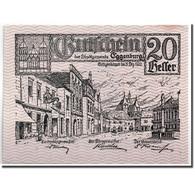 Billet, Autriche, Eggenburg, 20 Heller, Ville, 1920, 1920-12-31, SPL, Mehl:162c - Austria