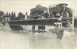 Militaire – Carte-Photo -  Avignon ? Génie, Char Sur Camion  ( MI ) - Equipment