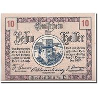 Billet, Autriche, Greifenstein N.Ö. Gemeinde, 10 Heller, Tour, 1920 - Austria