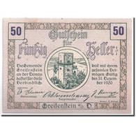 Billet, Autriche, Greifenstein N.Ö. Gemeinde, 50 Heller, Tour 1, 1920 - Austria