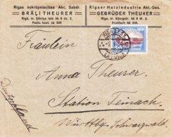 Lettonie - Lettre De 1929 ° - Oblit Riga - Exp Vers Teinach - - Lettland