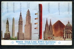 """15040 White Star Line RMS """"Olympic"""" - Comparaison Longeur Avec Batiments - Monuments - Paquebots"""